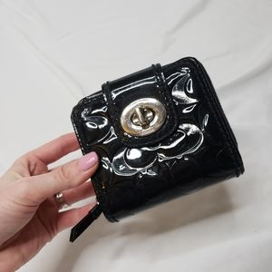 COACH Patent leather turn lock embossed wallet